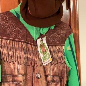 New Cowboy Cactus Sheriff Union suit size L